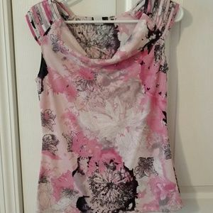 Tops - Pink multi colored top